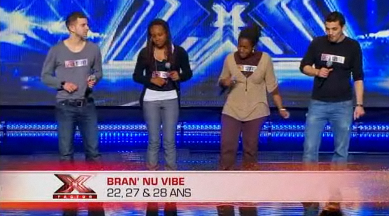Le groupe Bran' nu vibe chante people get ready à X Factor 2011