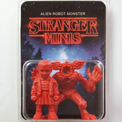 "Stranger Things ""Stranger Minis"" Red Edition Keshi Rubber Mini Figure Set by Alien Robot Monster"