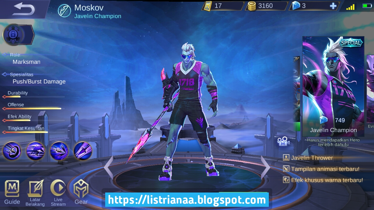 Build Moskov Terbaru Auto Savage Maniac MVP Mobile Legends 2