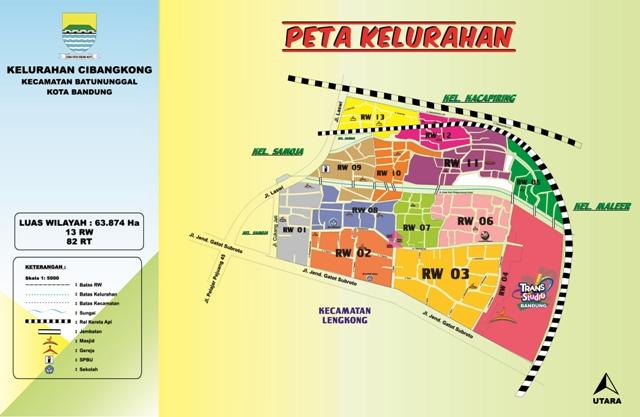 Peta Kelurahan Cibangkong - KECAMATAN BATUNUNGGAL