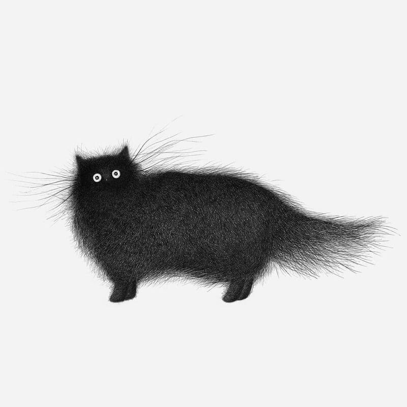 05-Luis-Coelho-Ink-Animal-Drawings-Cats-and-More-www-designstack-co