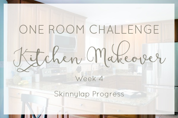 One Room Challenge kitchen makeover week 4 update