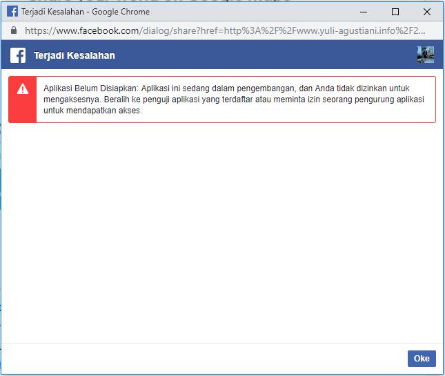 Solusi share button facebook pada blog error