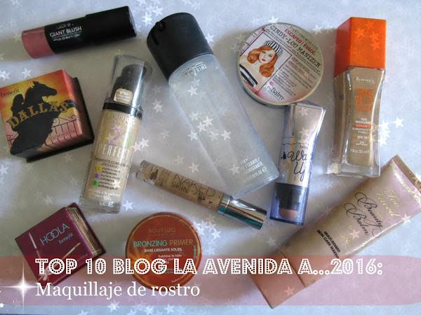 Top 10 Blog La Avenida A... 2016: Maquillaje de rostro