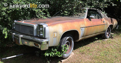 Faded silver paint gave way to the orange, rusty patina.