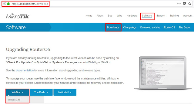 Cara Download Winbox Mikrotik dari website Mikrotik.com