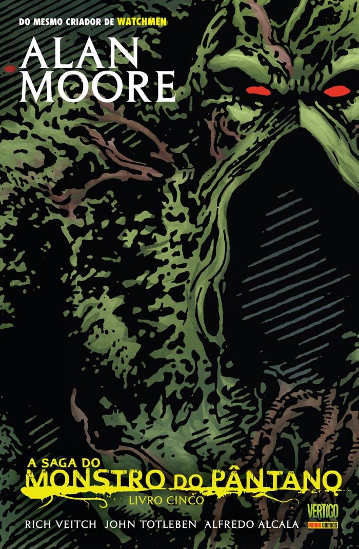 Capa de A Saga do Monstro do Pântano Volume 5. Por Rick Veitch, John Totleben.