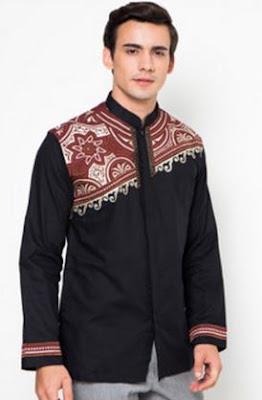 Model kemeja pria slim fit keren modis motif batik