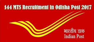 odisha postal circle recruitment 144 mts