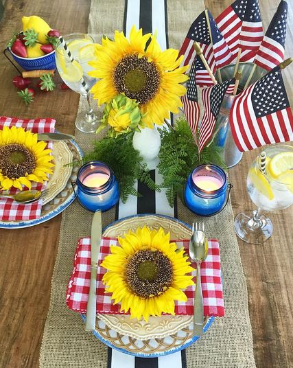 fourth of july table decor