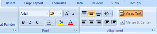 Wrap Text In trong Excel