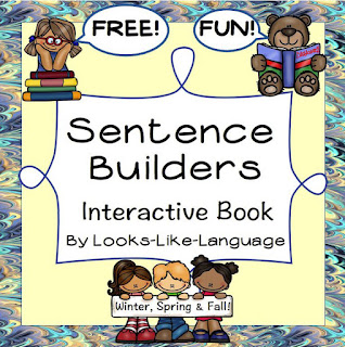 Sentence Bulders Interactive Free Book from Looks Like Language