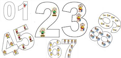 Baixe em PDF - Moldes de Números