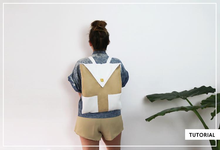 Mochila minimalista + Cómo coser polipiel | DIY, talleres, slow life ...