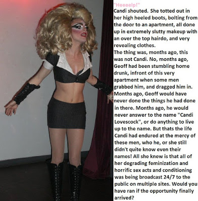 Trying to escape Sissy TG Caption - Candi's Place - Crossdressing and Sissy Tales and Captioned images