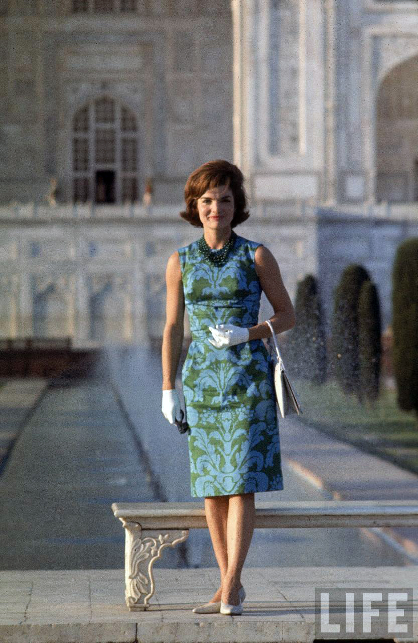 Jackie Kennedy Fashion: Jackie Kennedy Visits India, 1962