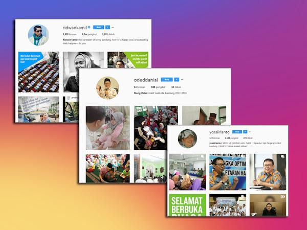 Akun Instagram Pejabat dan Dinas di Lingkungan Pemkot Bandung