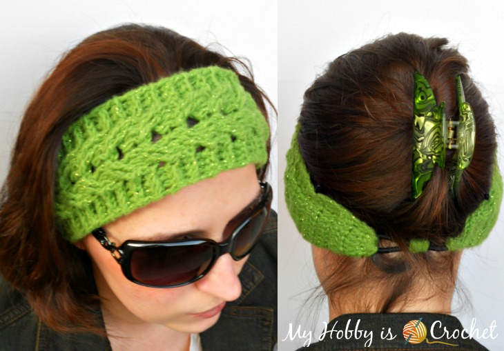 Easy Fit Cable Headband- Free crochet Pattern with Tutorial