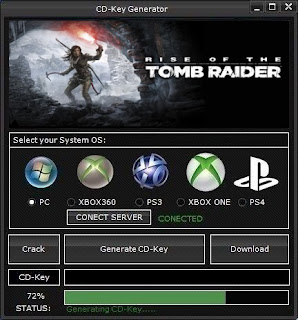 Rise of the Tomb Raider Key Generator (Free CD Key)