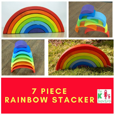 7 piece rainbow stacker grimms waldorf toy open ended toy  purchase buy