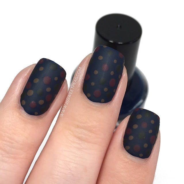 Fall Polka Dot Nails