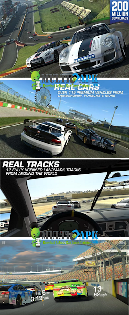 Game Real Racing 3 v4.4.1 APK+Data Terbaru Update (Mod Money+Gold+UnlockAllCars) For Android