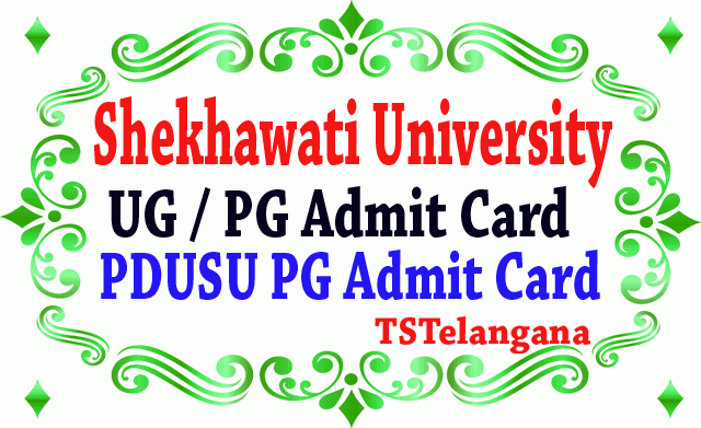 Shekhawati University UG / PG Admit Card 2019 PDUSU PG Annual Admit Card 2019