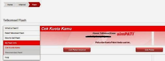 Cara Cek Kuota Paket Internet Telkomsel Melalui Website Telkomsel