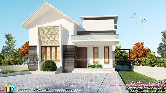 2 Bedroom small Low cost villa plan