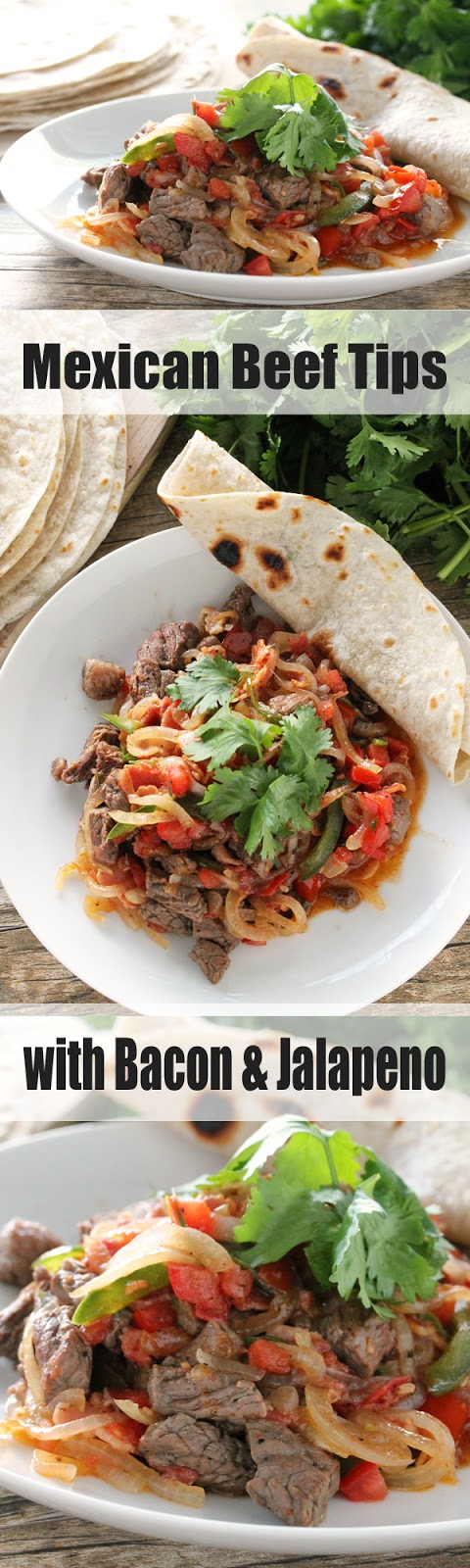Mexican Beef Tips with Bacon and Jalapeno