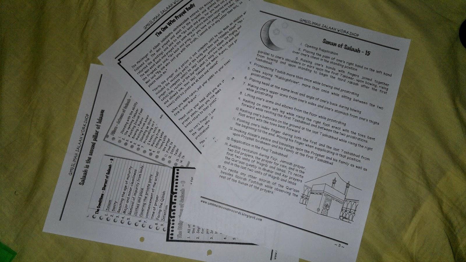 Umm Maimoonah S Journal Salaah Workshop