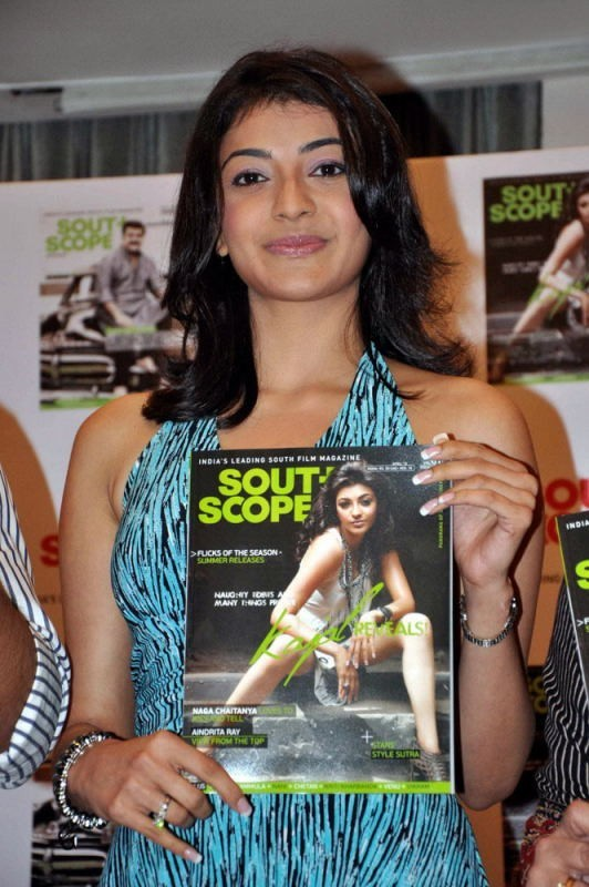 Kajal Agarwal At Book Launch In Blue Dress