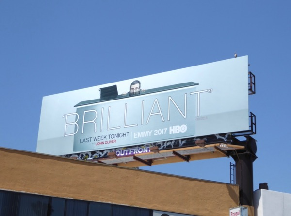 John Oliver brilliant Emmy FYC billboard