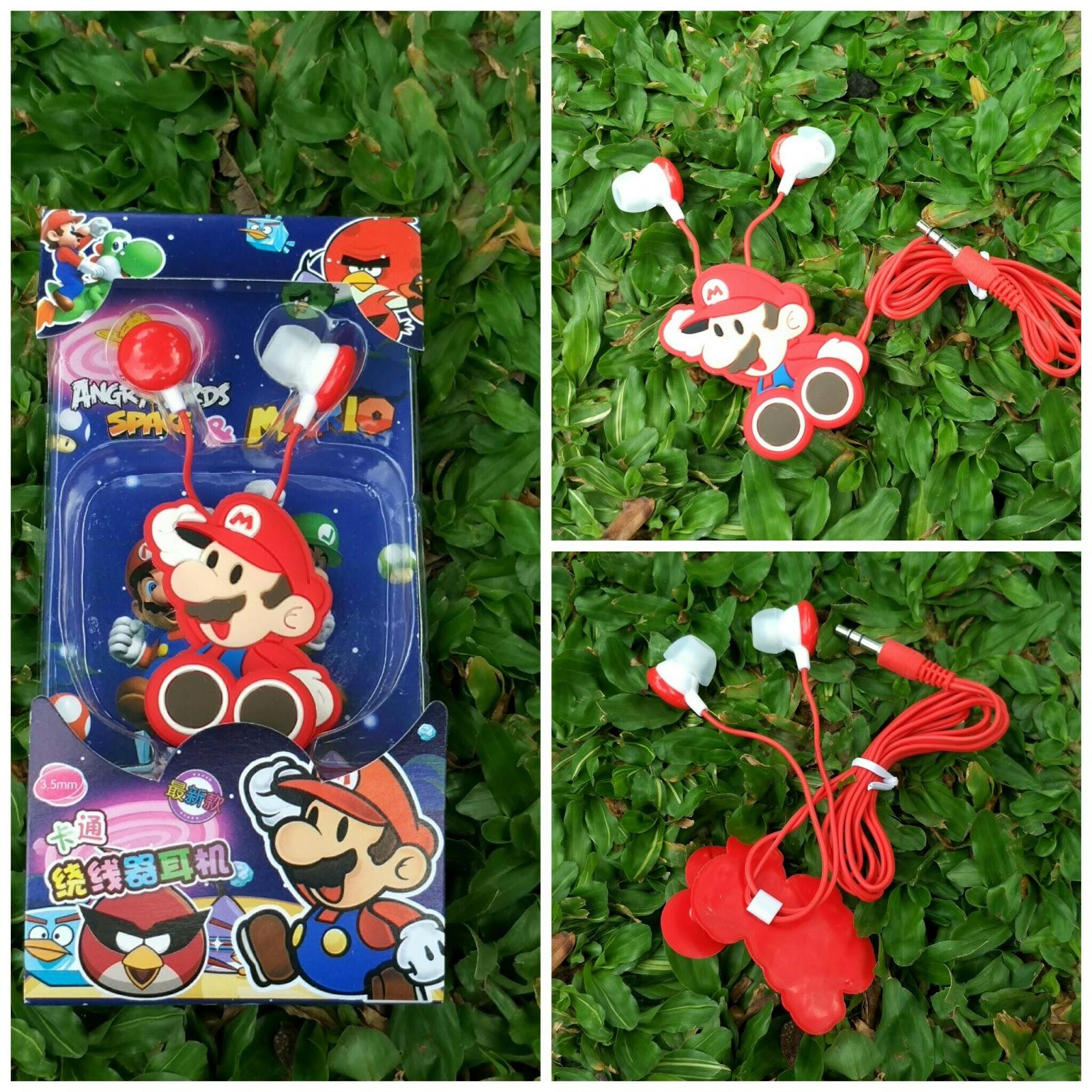 Earphone lucu, earphone murah, Earphone lucu Mario Bross