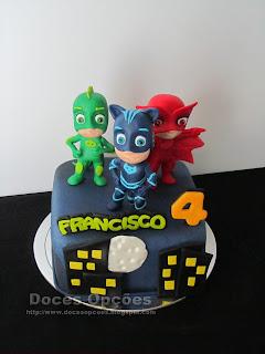 cake PJ Masks fondant