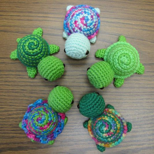Tiny Striped Turtles - Free Crochet Pattern
