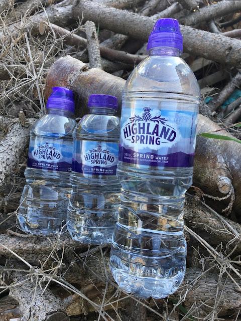 Highland Spring still water bottles