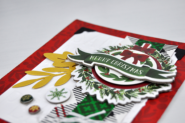 Merry Christmas Wreath Card by Jen Gallacher for www.echoparkpaper.com. #echoparkpaper #jengallacher #cardmaker #christmascard