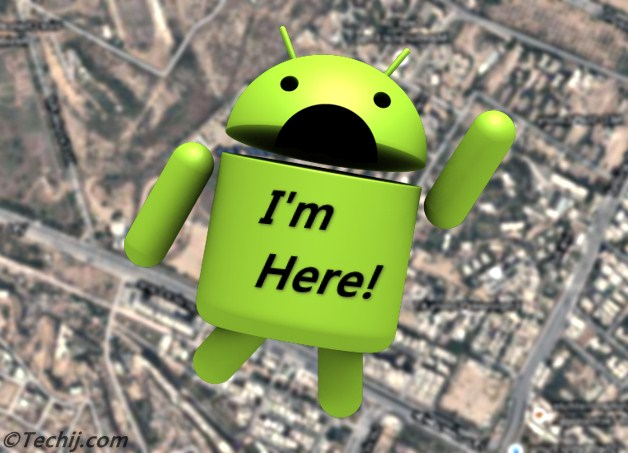 locate android phone on map