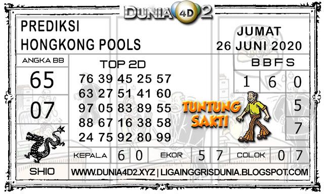 Prediksi Togel HONGKONG DUNIA4D2 26 JUNI 2020
