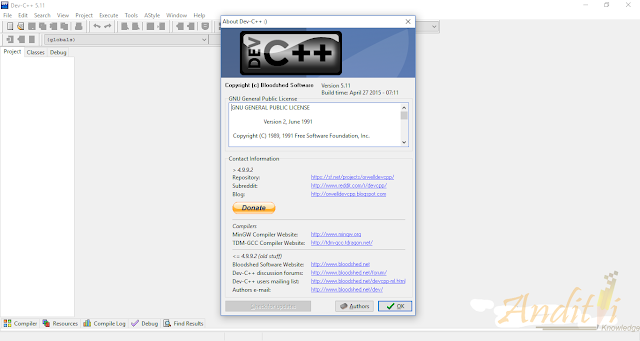 Download Dev C++ v5.11 Terbaru-anditii.web.id