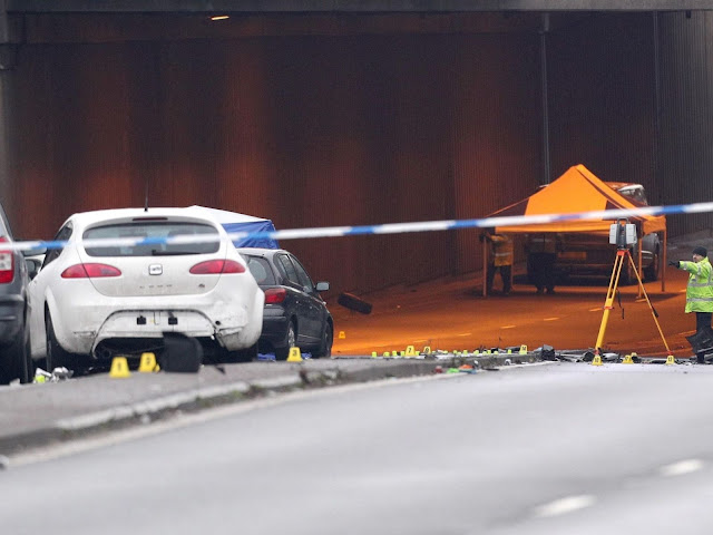 The crash happened at the entrance to the underpass on Lee Bank Middleway