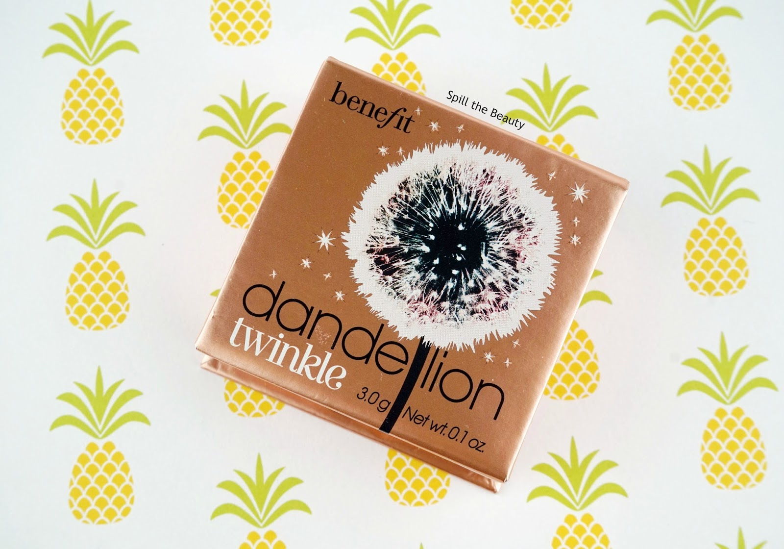 Benefit 'Dandelion Twinkle' Highlighter – Review, Swatches, and Look