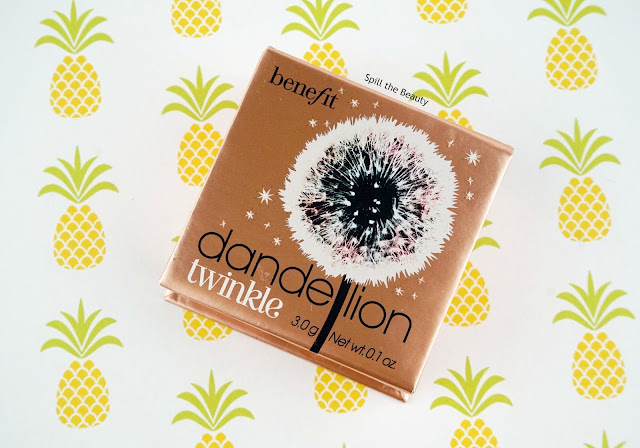 benefit dandelion twinkle highlighter review swatches comparison dupe