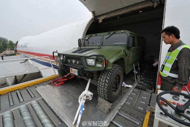 Image Attribute: In June 2015, China delivered 20 MengShi 4×4 (DFM EQ2050) army light utility vehicle, a Humvee copy.