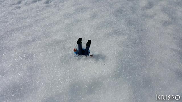 click sem ientarrado e la nieve boca abajo