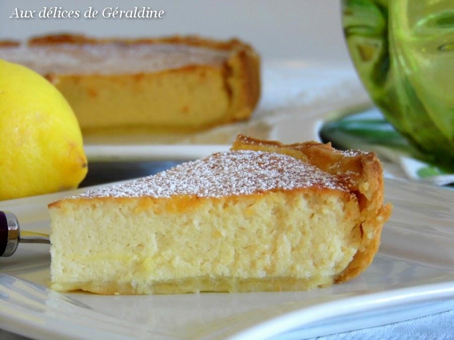 Aux Délices De Géraldine Tarte Ricotta Citron