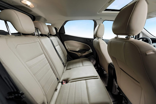 Novo Ford EcoSport 2020 - espaço traseiro
