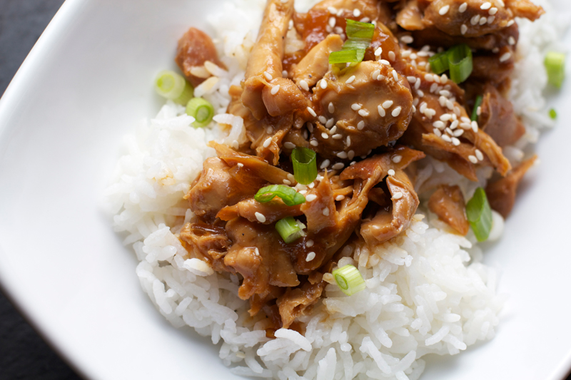 Slow Cooker Honey Soy Chicken || A Less Processed LifeSlow Cooker Honey Soy Chicken