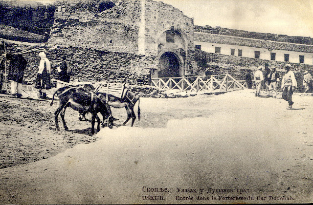 Serbian army enters in Skopje during the First Balkan War